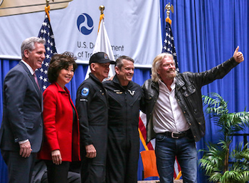 Richard Branson with Newly Awarded Astronauts