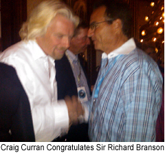Craig Curran and Sir Richard Branson