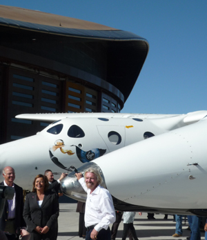 Sir Richard Branson at Spaceport America
